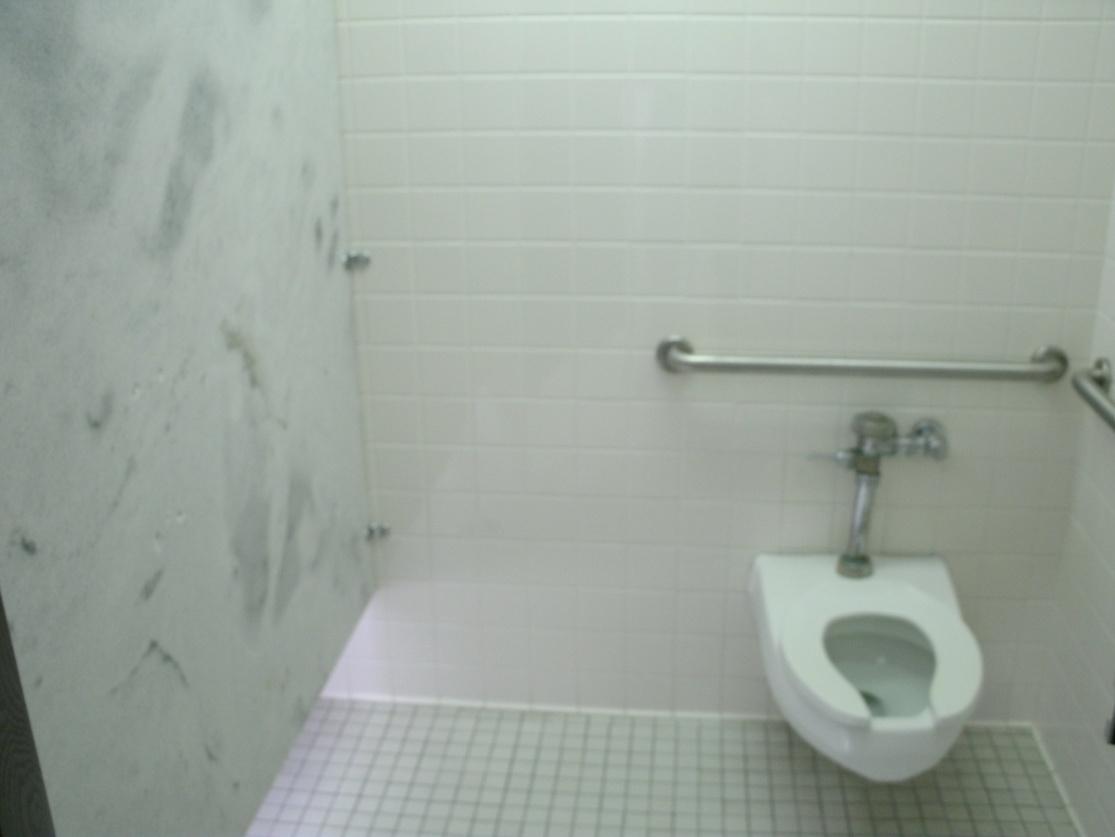 Used bathroom stalls