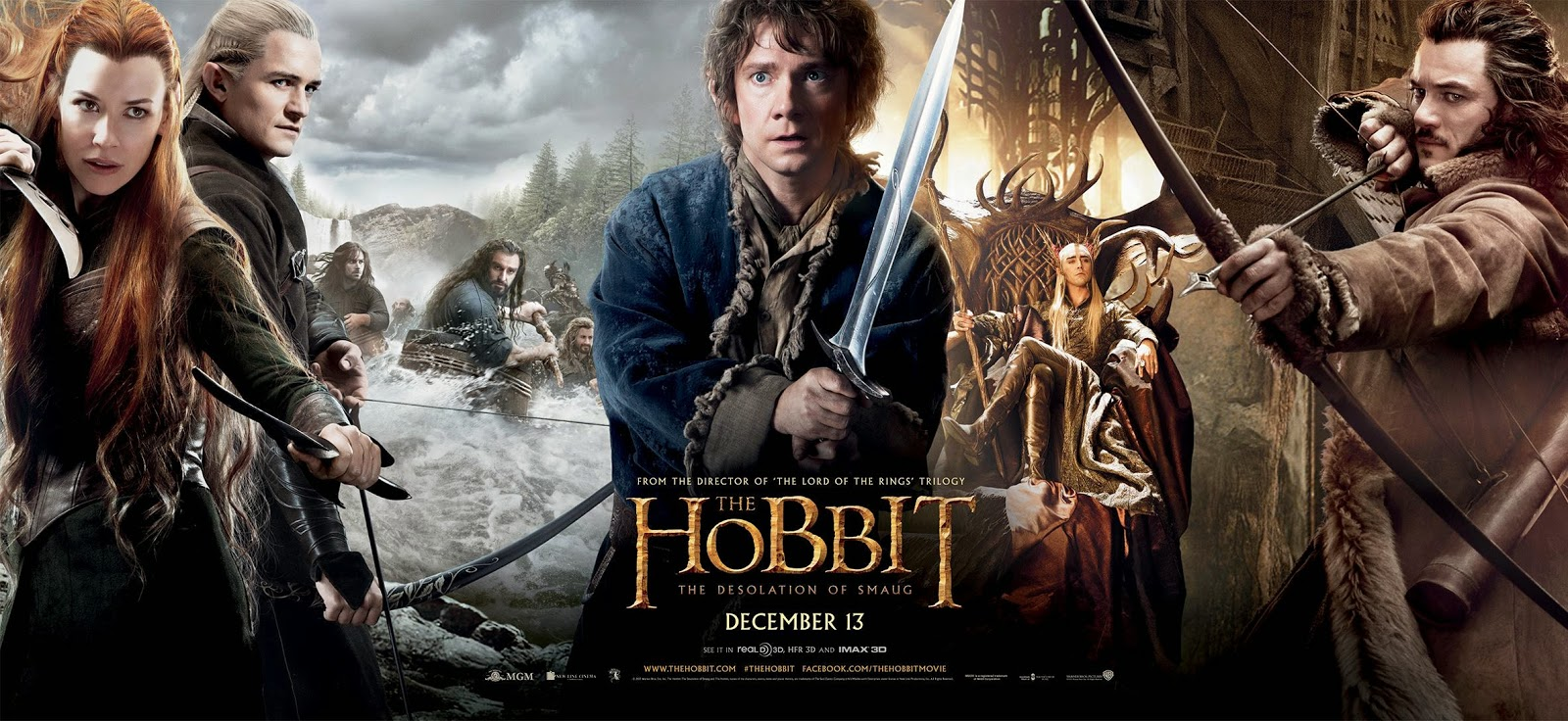The elves, dwarfs, humans, and Bilbo that are introduced in this movie.