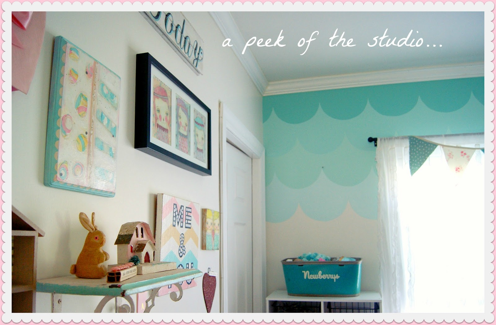 Ombre Scallop accent wall tutorial