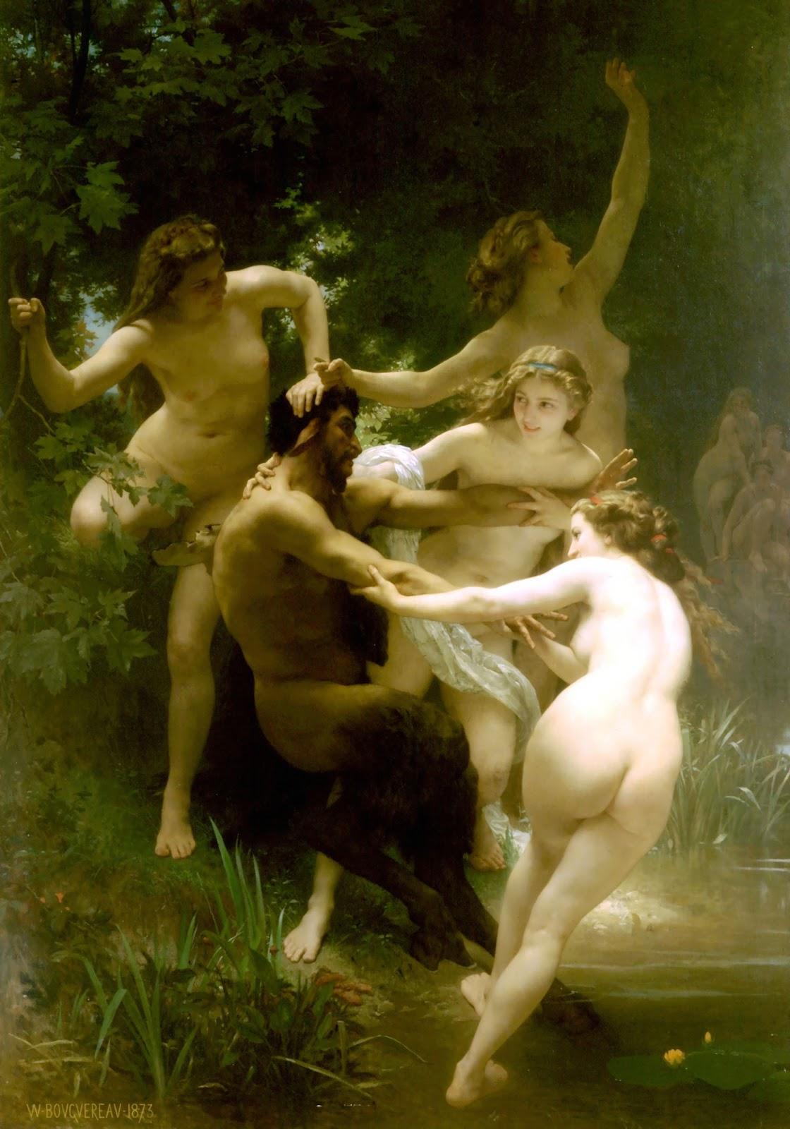 Nymphs and Satyr. 1873. Óleo sobre tela - 179,8 x 260 cm