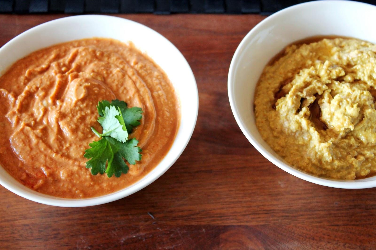 Hummus, original and chili-tomato | Alinan kotona blog