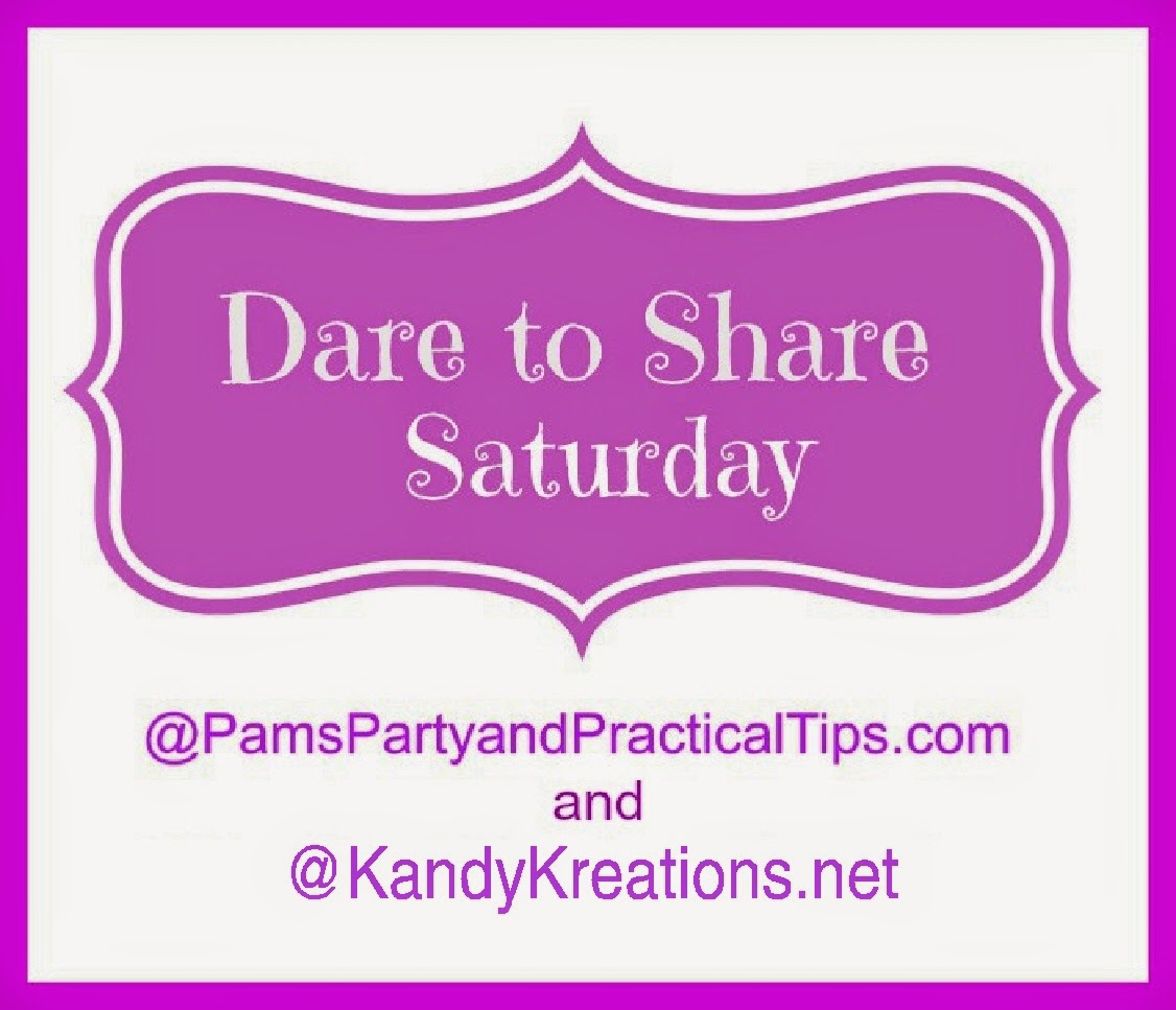If you are looking for something fun for the toddlers to do, or need some ideas to help take care of them, enjoy these five toddler activity ideas from last week's Dare to Share Saturday linky party.  Then, come back and share your favorite link from this week so we can all enjoy the fun.