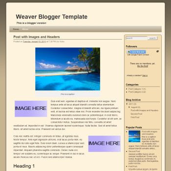 Weaver Blogger Template convert from wordpress theme to blogger. blogspot template 2 column