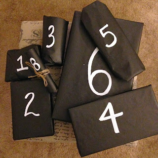 chalkboard inspired wrapping paper