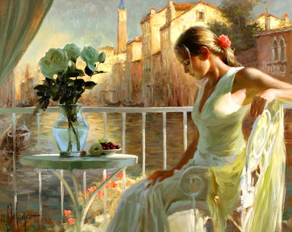 Pinturas Al Oleo Femeninas Arte Femenino Pintura De