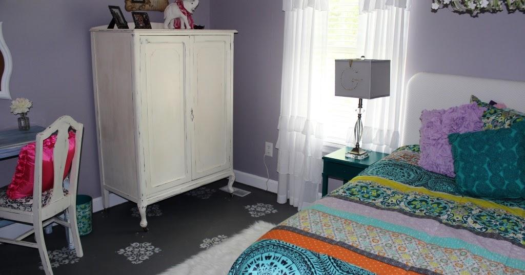 welcome boho chic style tween bedroom makeover