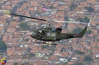 Helicóptero UH-1N del Ejército de Colombia