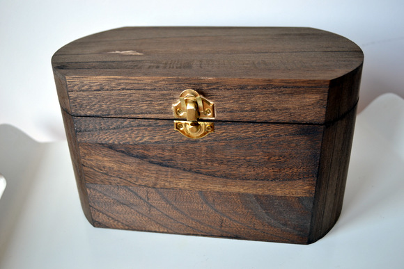 Stained wooden box from Michael's