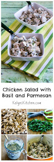 Chicken Salad with Basil and Parmesan [from KalynsKitchen.com]