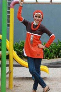 UKHTI Teens UT25 - Merah Bata (Toko Jilbab dan Busana Muslimah Terbaru)
