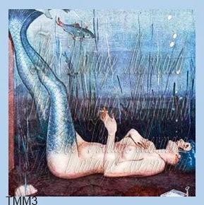smoking mermaid fabric blocks by vintagemermaidsfabricblocks.com
