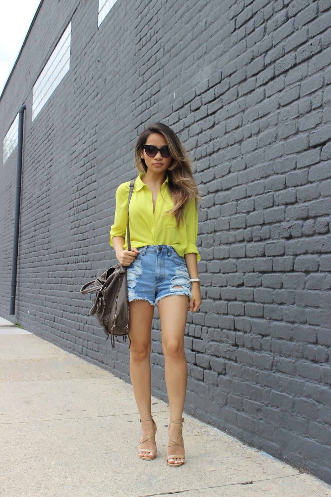 boyfriend jeans, boyfriend shorts, fashion blogger, melbanguyen, soletrekking, forever21
