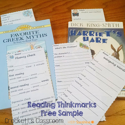 Have you ever used a Reading Thinkmark?  Download this free sample and see how easy they are to use to help students track their thinking as they read.