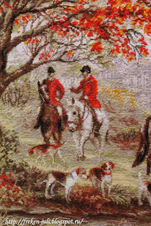 Риолис вышивка охота на лис