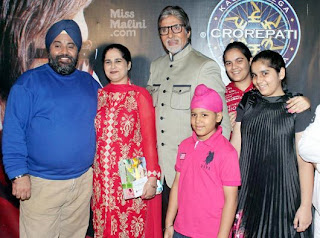 Amitabh Bachchan with KBC winner Sunmeet Kaur
