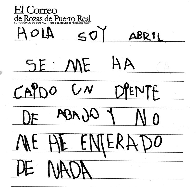 El Correo De Rozas De Puerto Real Hola Soy Abril