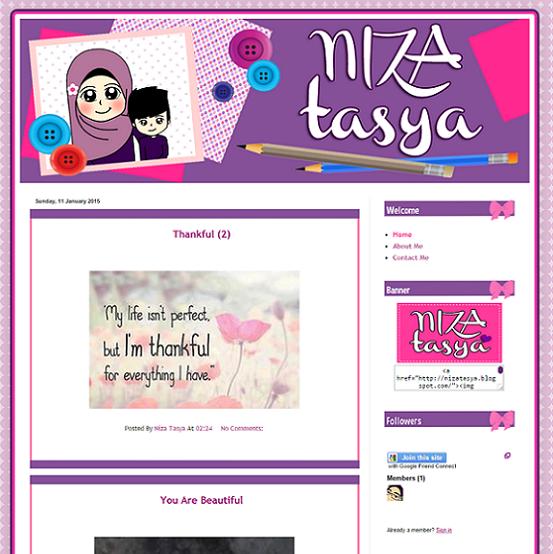 Tempahan : Blog Niza Tasya