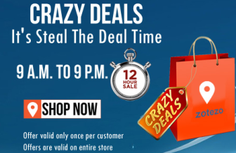 Buy Steal The Crazy Deals Offer – Get Flat Rs.100 | 200 | 300 | at zotezo.com : Buy To Earn
