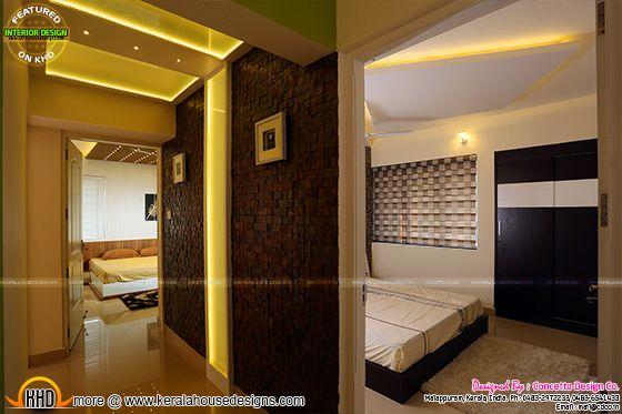 Flat bed room interior