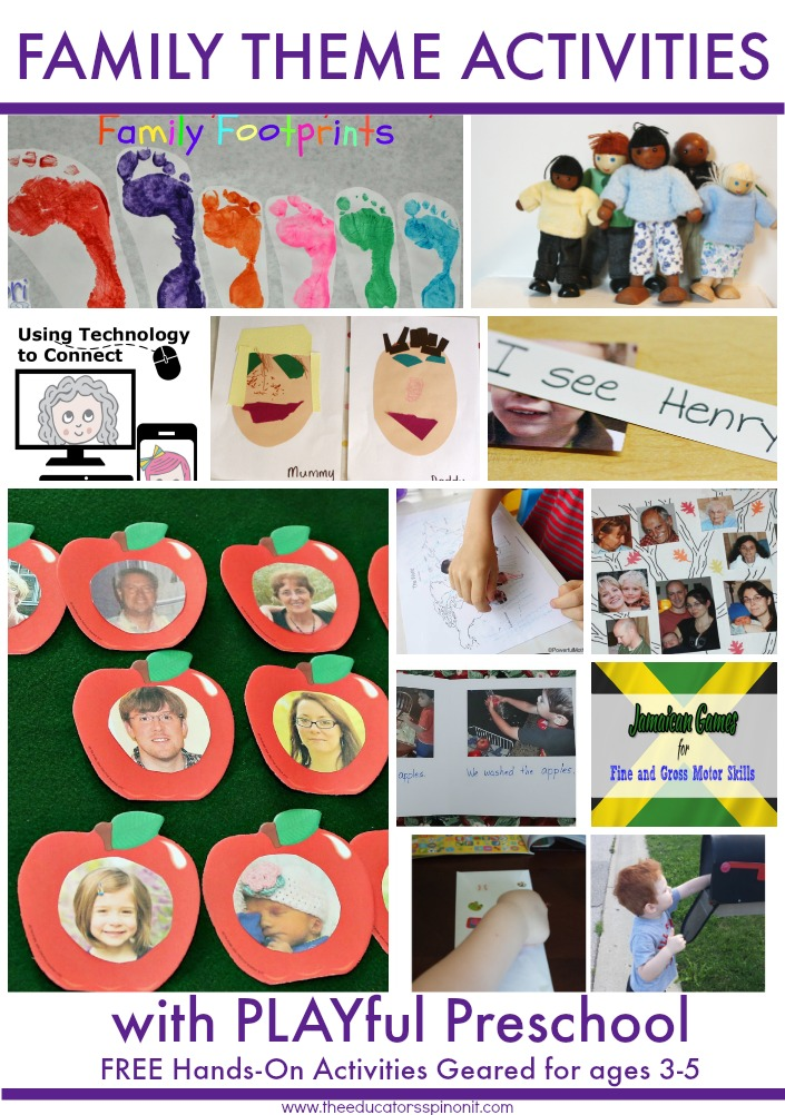 Plan your Family Theme Preschool Activities with these ideas from the ...