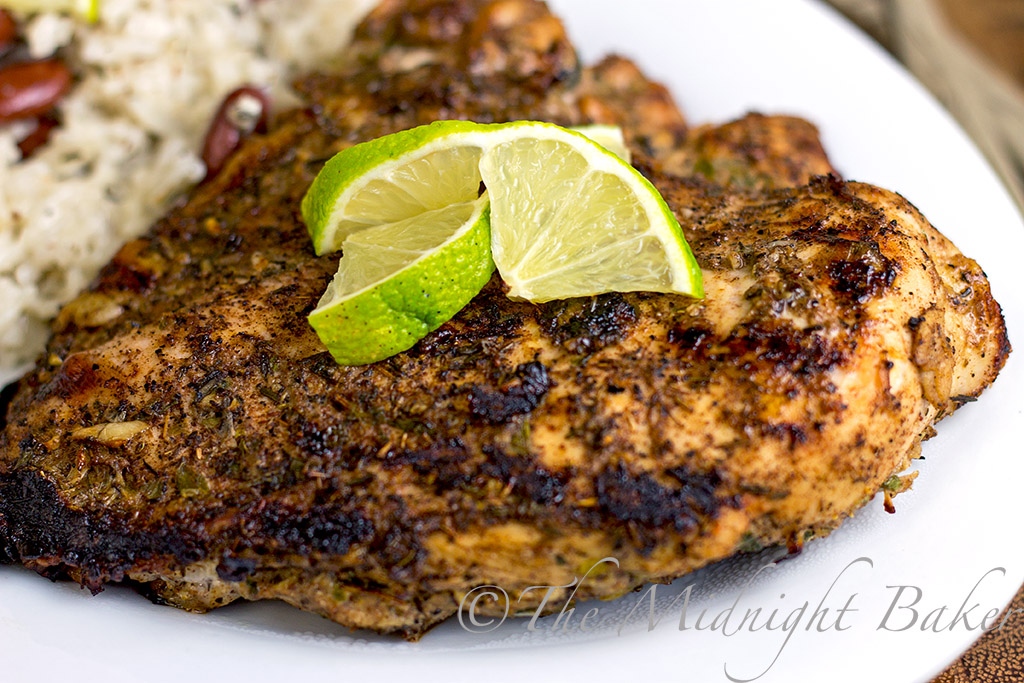 The Midnight Baker: Jamaican Jerk Chicken & Coconut Rice
