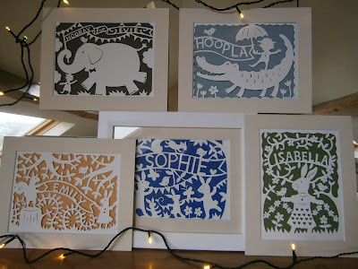 picture of personalised kid's papercut art