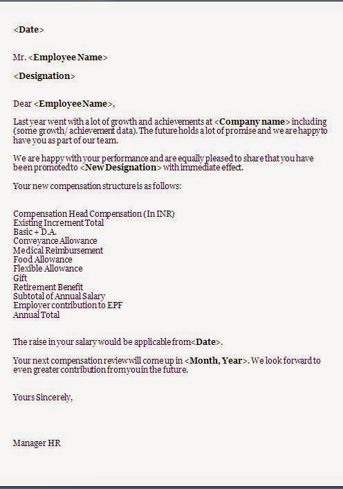 Salary Increase Letter