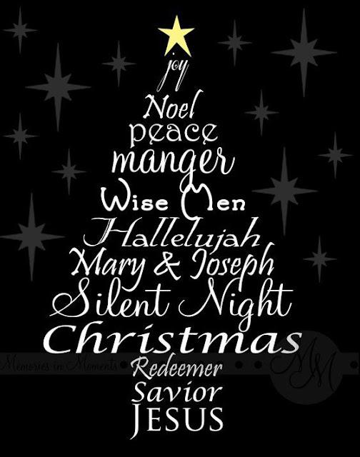 christmas sayings joy peace manger