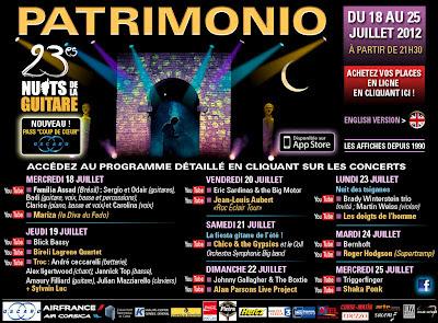 Festival de Guitare Patrimonio 2012