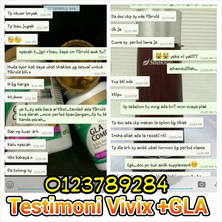 Testimoni Vivix Dan GLA Complex Shaklee