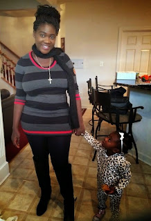 Mercy Johnson and her daughter