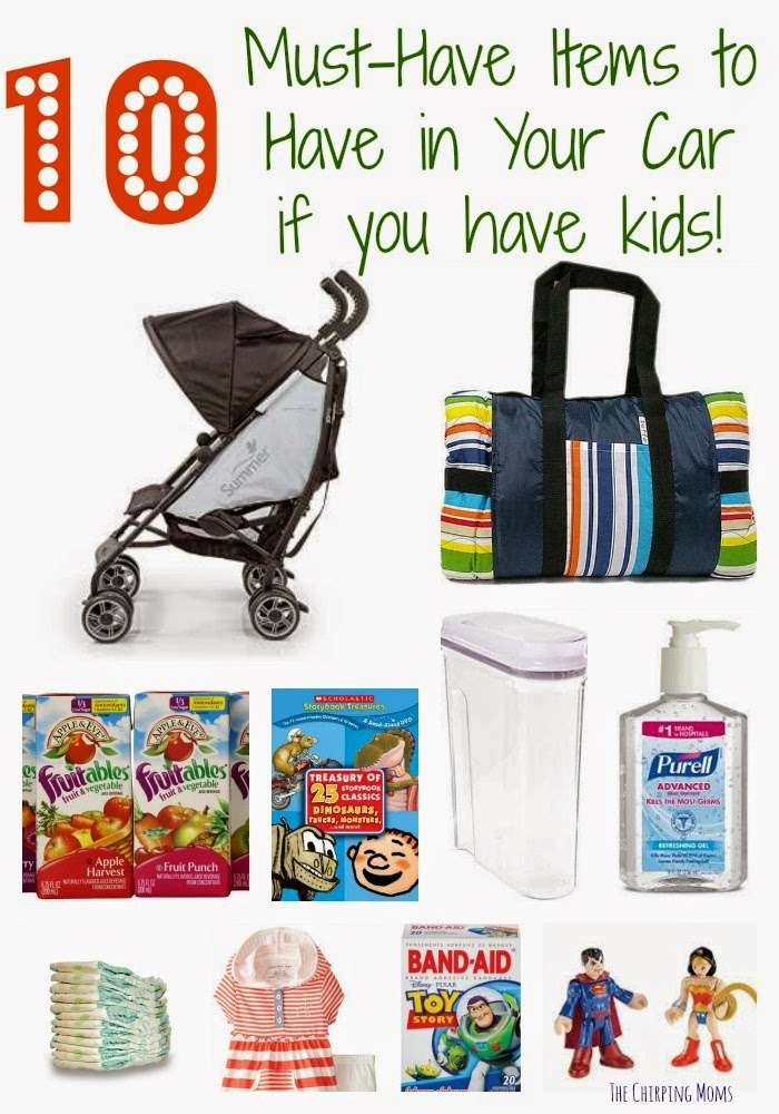 10 Items to have in Car if you have Kids || The Chirping Moms