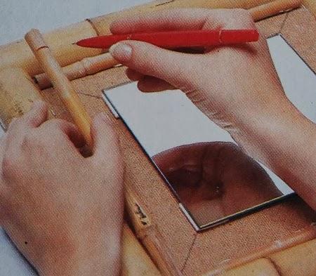 Espejo con Marco de Bambu Paso a Paso, Bricolaje Facil