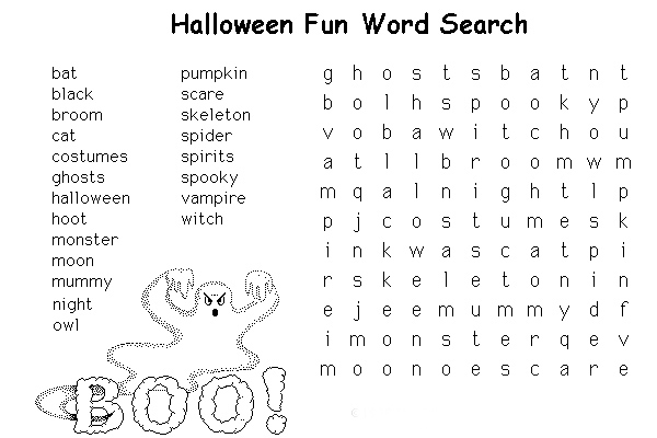 Punchy image for halloween games printable