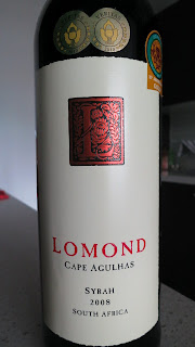 2008 Lomond Syrah label photo