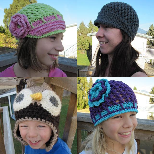 crocheted hats . . .