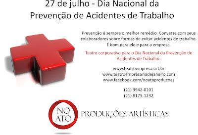 Teatro corporativo para o Dia Nacional da Prevenção de Acidentes de Trabalho