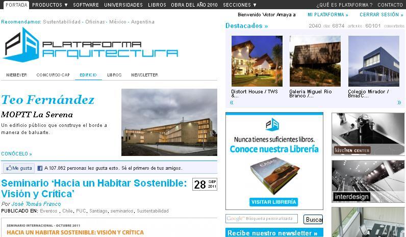 plataforma es una web de en la cual se muestran diversos proyectos que estn en construccin as como diversos especiales de