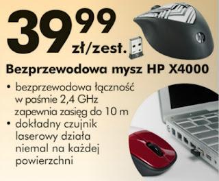 mysz HP X4000 Biedronka ulotka