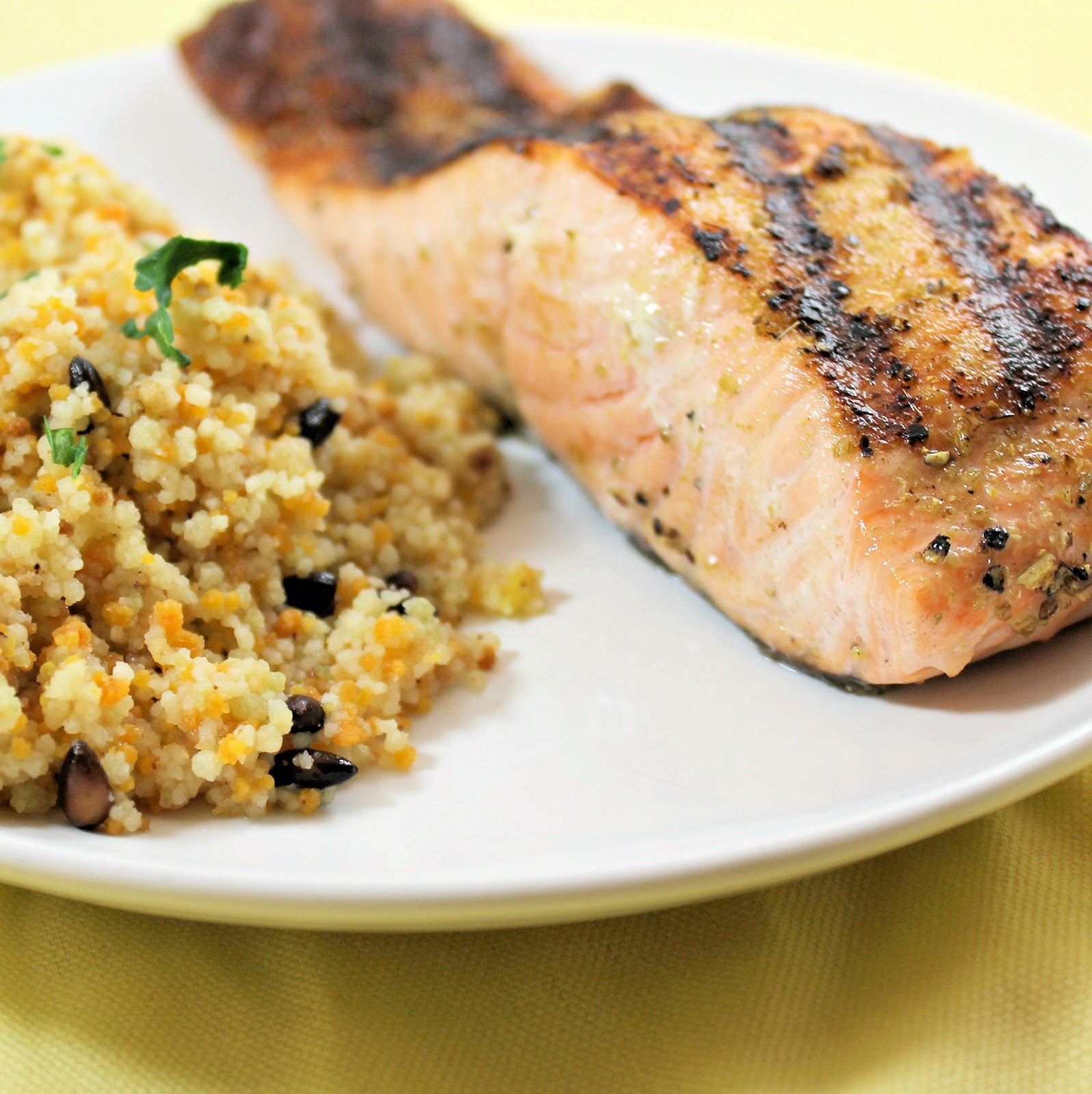 Grilled Salmon and Brown Butter Couscous | I Can Cook That