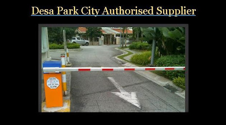 Barrier gate at Desa Park City