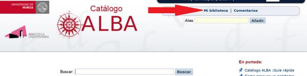 """""""Mi biblioteca"""", en ALBA."""