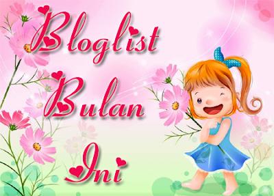 Bloglist Bulan Ini Ogos 2015