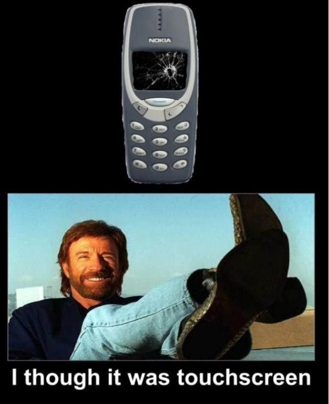Chuck Norris - Nokia - I Thought It Was Touchscreen