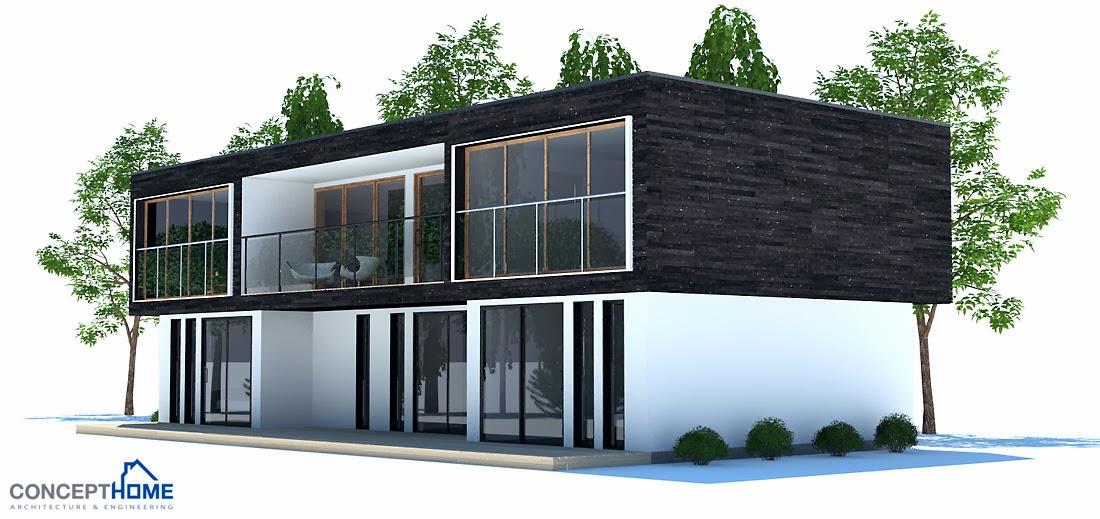 Plantas de casas modernas planta de casa moderna ch195 for Casa moderna 8