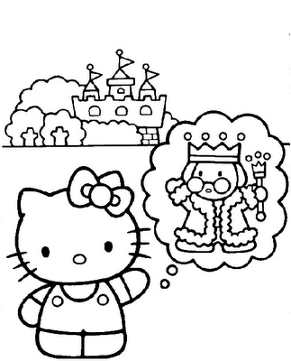 coloring pages for kids hello kitty. Labels: Hello Kitty Coloring