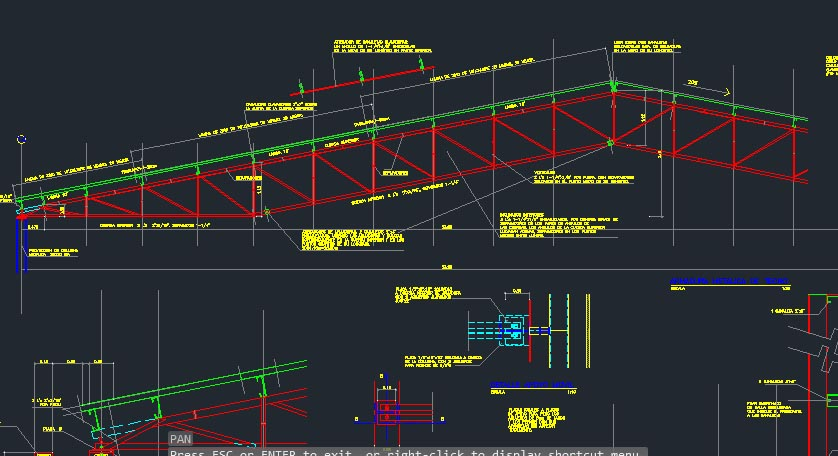 Autocad metail roof truss model with details drawing file Roof drawing software