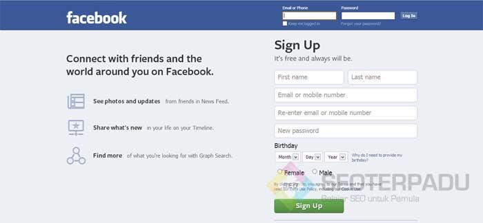 Pasang Iklan Gratis di Facebook 1