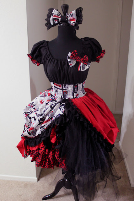 Doll Delight - Punk Lolita - Black, Red and White
