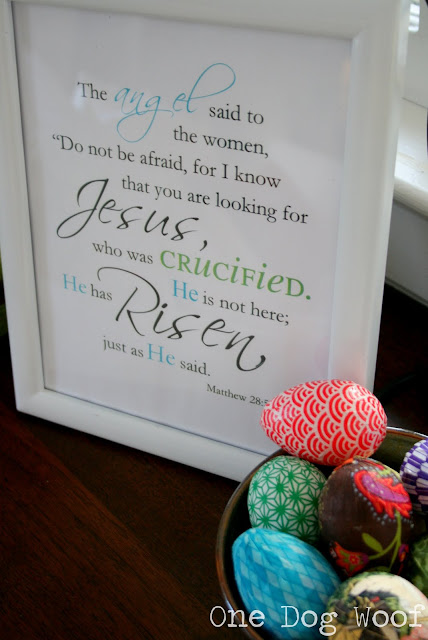 One Dog Woof He has Risen Easter Printable